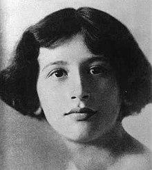 Simone Weil en 1921.