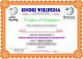 Sindhi Wikipedia Awareness Workshop Participants certificate.jpg
