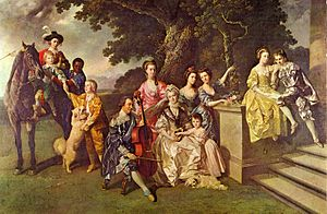 Sir William Young, 1st Baronet - Sir William Young and his family.