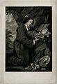 Sir Francis Dashwood at his devotions; Dashwood in habit, ad Wellcome V0049246.jpg