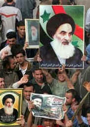 Ali al-Sistani -  A protest against Al Jazeera