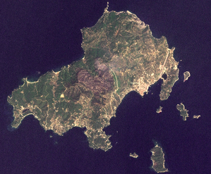 Skiathos satellite map