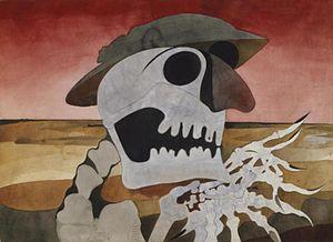 Edward Burra - Skull in a Landscape, (1946) (Art.IWM ART 15554)