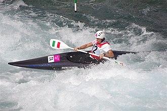 Italy at the 2012 Summer Olympics - Image: Slalom canoeing 2012 Olympics W K1 ITA Maria Clara Giai Pron