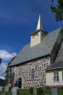 Slidredomen church building in Vestre Slidre, Oppland, Norway