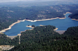Central Valley Project - Sly Park Dam (left) and auxiliary dam (right)