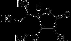 Strukturformel von Natriumascorbat