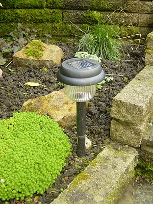 Solar lamp -  A garden solar lamp