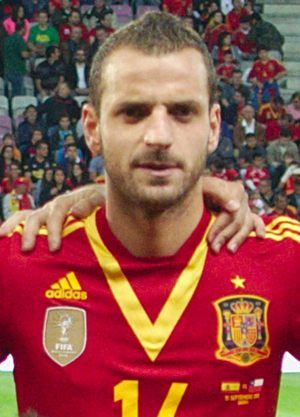 Roberto Soldado - Soldado lining up for Spain in 2013