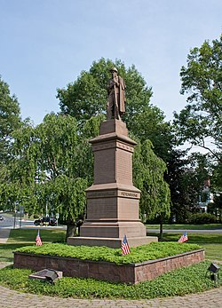 Civil War Soldiers' Monument in the town center