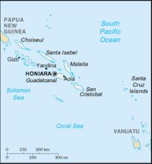 Mapa Wysp Salomona
