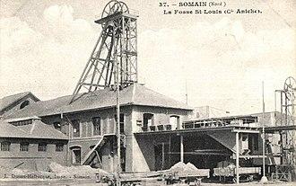 Somain, Nord - Saint Louis Mine around 1910.