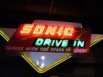 Sonic Drive-In - Sonic Drive-In neon sign at the Oklahoma History Center