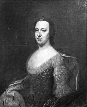 Prince Georg Ludwig of Holstein-Gottorp - Portrait of Sophie Charlotte of Schleswig-Holstein-Sonderburg-Beck by Dominicus van der Smissen.