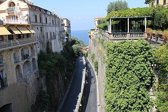 Sorrento - View from Piazza Tasso.