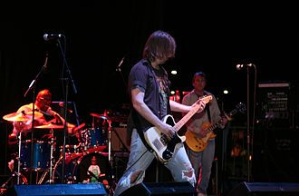Soul Asylum discography - Soul Asylum performing at a 2010 concert in Urbana, Illinois. From left to right: Michael Bland (drums), Dave Pirner (vocals, rhythm guitar), and Dan Murphy (lead guitar).