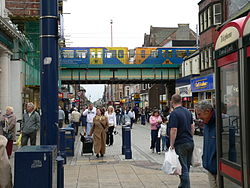 South Shields high street and metro station 02.jpg