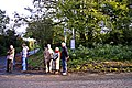 Spectators on corner of junction of A273 with Mill Lane - geograph.org.uk - 1043152.jpg
