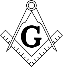 The Masonic Square and Compasses.(Found with or without the letter G)
