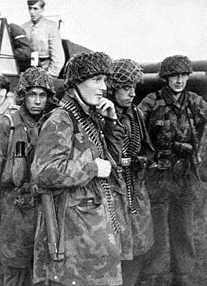 500th SS Parachute Battalion - Soldiers of the battalion are getting ready for Operation ''Rösselsprung''