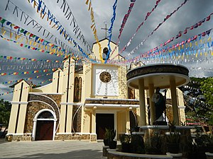 Pozorrubio, Pangasinan - Facade with the Grotto of Jude the Apostle