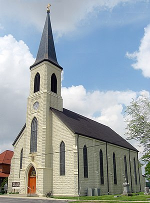 New Haven, Indiana - St. Louis Catholic Church, located just southeast of New Haven, is on the National Register of Historic Places.
