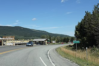 St. Mary, Montana - Image: St. Mary Montana Sign looking north US89