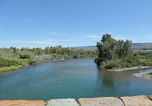 St. Mary River (Alberta–Montana) - St. Mary River downstream from Saint Mary Lake