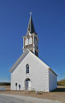 St. Olaf Kirke located just outside Cranfills Gap in the unincorporated rural community known as Norse, Texas