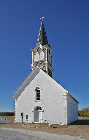 Cranfills Gap, Texas - St. Olaf Kirke located just outside Cranfills Gap in the unincorporated rural community known as Norse, Texas