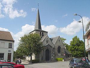 Haren, Belgium - The church of St Elizabeth in the centre of Haren