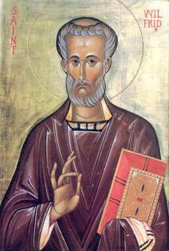 Wilfrid - Icon of Saint Wilfrid, who is also venerated in the Orthodox Church.