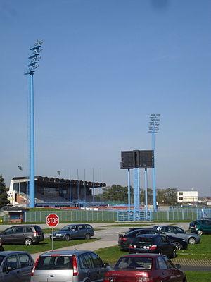 Stadion SRC Mladost, Čakovec - Image: Stadion Mladost, Čakovec tribina