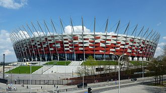 Football in Poland - National Stadium in Warsaw, venue for the UEFA Euro 2012 opening game.