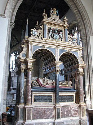 St Martin's Church, Stamford - Tomb of William Cecil, Lord Burghley (died 1598)