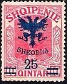 Stamp of Albania - 1920 - Colnect 182238 - Unissued portrait of Prince zu Wied surcharged in blue.jpeg