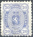 Stamp of Finland - 1875 - Colnect 414250 - Coat of Arms Type m 75 Helsinki Printing.jpeg