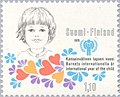 Stamp of Finland - 1979 - Colnect 46867 - Child s-face badge.jpeg