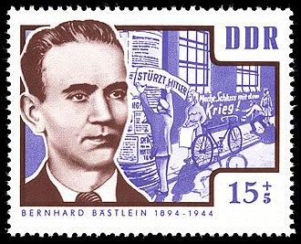 Bernhard Bästlein - Bernhard Bästlein, 1964 stamp from the GDR