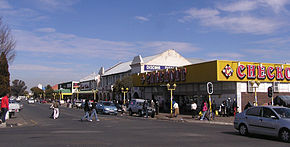 Central business district in Standerton.