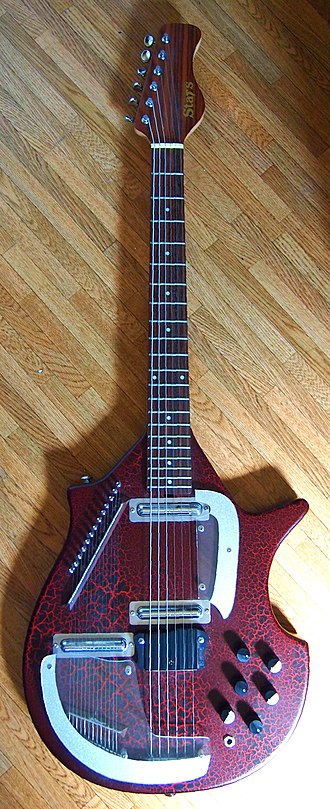 Electric sitar - Star's Electric Sitar, a copy of  Coral/Danelectro Electric Sitar 3S19