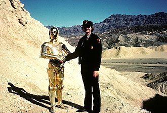 Star Wars (film) - Filming in Death Valley c. 1976
