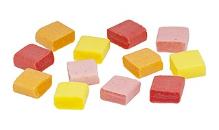 Starburst (candy) Chewy fruit-flavored candy