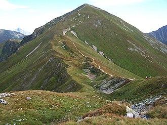 Klin (mountain) - Image: Starorobociański Wierch a 1