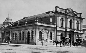 Brisbane School of Arts - The first North Brisbane School of Arts Building, ca. 1877