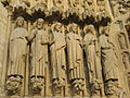Statues of Bartholomew, Simon, James the Less, Andrew, John and Peter, Notre-Dame Cathedral, Paris 19 February 2007.jpg