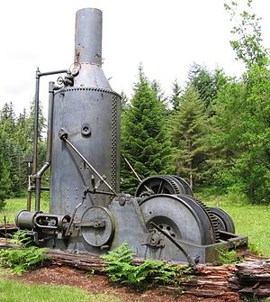 Steam donkey - 12×14 Empire steam donkey in the UBC Malcolm Knapp Research Forest, Maple Ridge, BC Canada