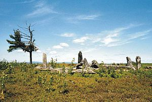 Heath, Massachusetts - Burnt Hill Stone Circle, a Pre-Columbian site in Heath