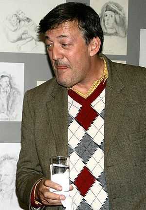 Stephen Fry - Stephen Fry visits Nightingale House, a care home in London, in December 2009