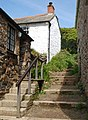Steps to coast path, Port Quin - geograph.org.uk - 1290802.jpg
